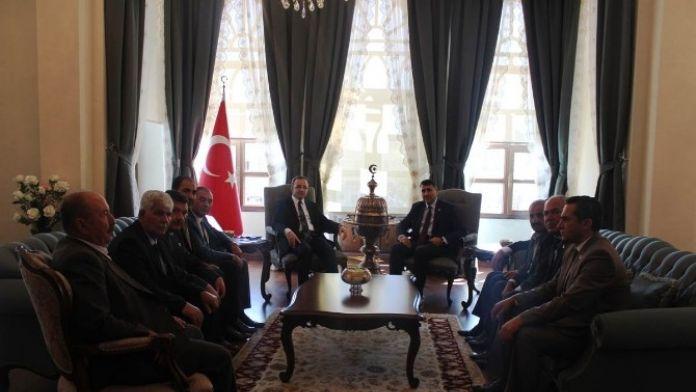 Vali Çataklı, İl Genel Meclisi Başkan Ve Üyelerini Kabul Etti