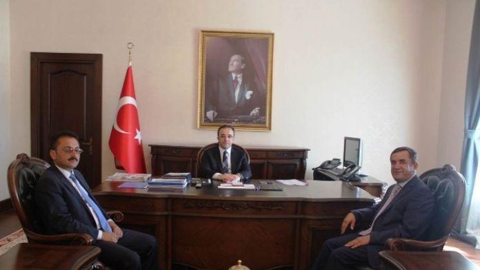 Vali Çataklı, Elbeyli Belediye Başkanı Şimşek'i Kabul Etti
