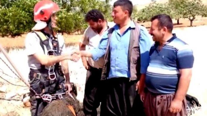 Gaziantep'te Kuyuya Düşen Keçi Kurtarıldı