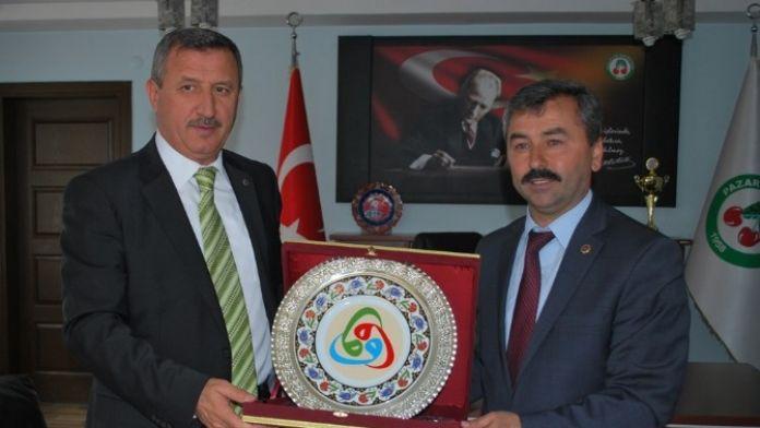 Başkan Cavit Erdoğan'a Veda Ziyareti