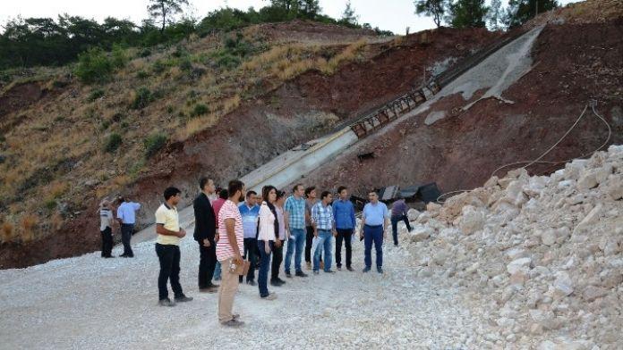 Özgür, Adrasan Baraj İnşaatında İncelemede Bulundu