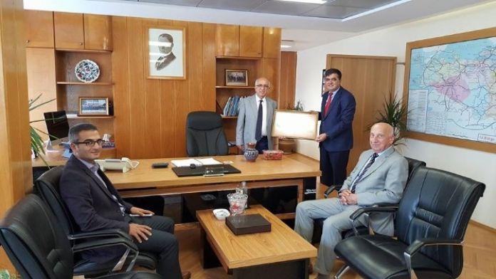 Başkan Yalçın'dan Karayolları 14. Bölge Müdürü Yazıcıoğlu'na Ziyaret