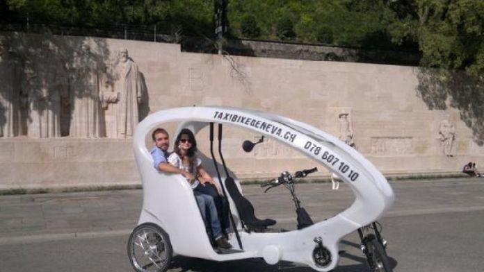 Bisiklet taksiler Cenevre'de faaliyete geçiyor