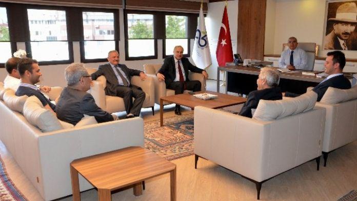 Teski Genel Müdürü Başa Çorlu Belediye Başkanı'nı Ziyaret Etti