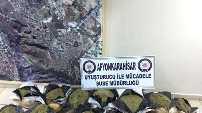 Afyonkarahisar'da 113 kilo esrar ele geçirildi
