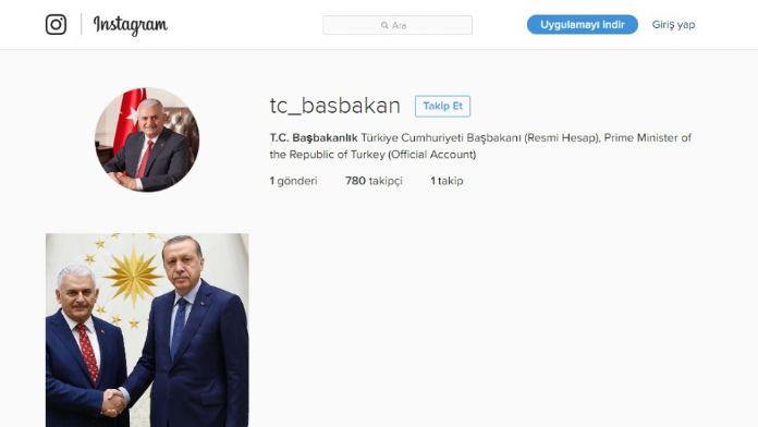 Başbakan Yıldırım'ın Sosyal Medya Hesapları Açıklandı