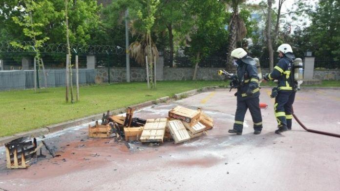 Fen İşleri'nden Yangın Tatbikatı
