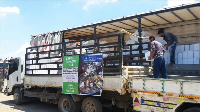 Halep'e ramazan yardımı