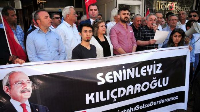 Tokat'ta CHP'liler Kılıçdaroğlu'na mermi atılmasına tepki gösterdi