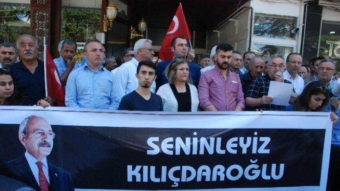 CHP'lilerden Mermi Protestosu