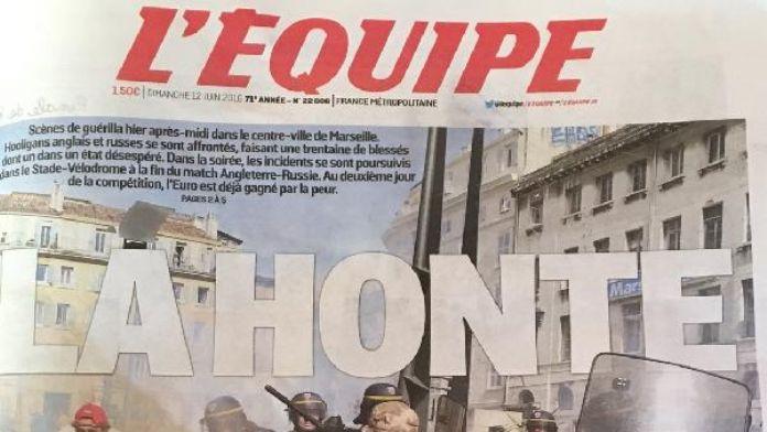 L'Equipe İngiliz ve Rus taraftarlarının kavgasını değerlendirdi: Utanç