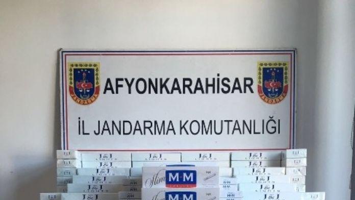 Afyonkarahisar'da Jandarma 4 Bin 228 Paket Gümrük Kaçağı Sigara Ele Geçirdi