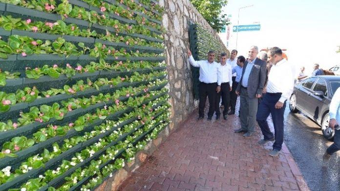 Malatya Yeşilyurt'ta Duvarlar Çiçek Açtı