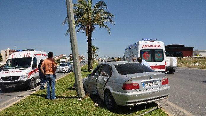 Otomobil Refüje Çıktı: 1 Yaralı