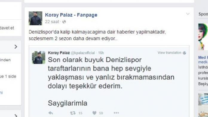 Denizlispor'da Palaz bilmecesi