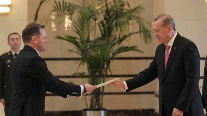 Erdoğan Arnavutluk Büyükelçisi Gazheli'yi Kabul Etti
