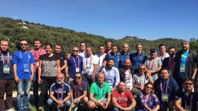 A Milli Takım'ın yardımcı antrenörleri, medya mensupları ile bir araya geldi
