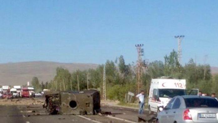 Hainler polis aracına saldırdı : 6 polis yaralı