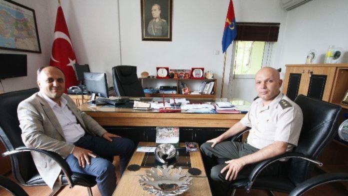Başkan Özaltun'dan Jandarma Komutanlığına Ziyaret