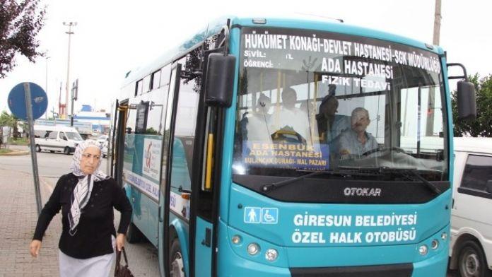 Giresun'da Belediye Otobüsleri Hayata Döndü