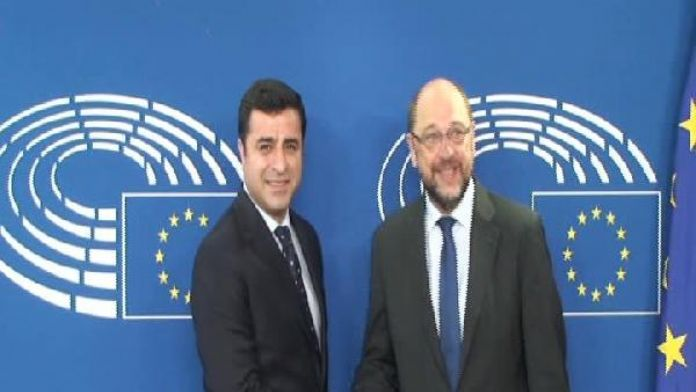 Selahattin Demirtaş AP Başkanı Martin Schulz ile görüştü