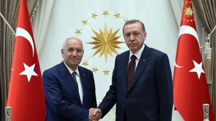 Cumhurbaşkanı Erdoğan, Yenimahalle Belediye Başkanı Fethi Yaşar'ı Kabul Etti