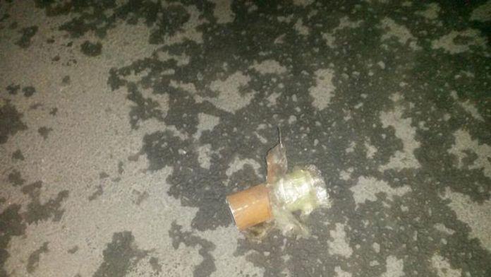 Markete bombalı saldırı