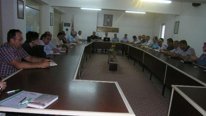Sene Sonu Okul Müdürleri Toplantısı Yapıldı