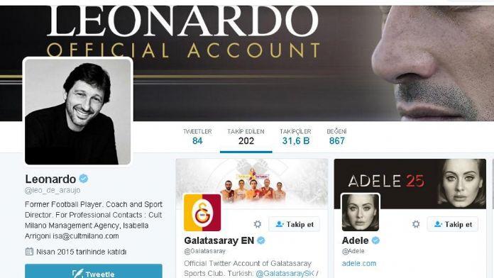 Leonarda Galatasaray'ı takip etmeye başladı