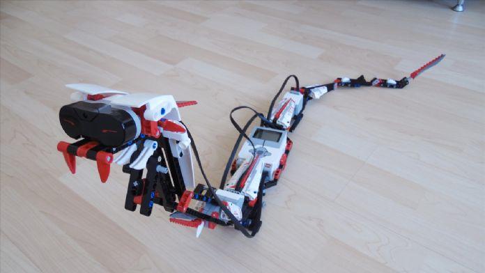 Robot Yılan Okulun Bir Anda Maskotu Oldu