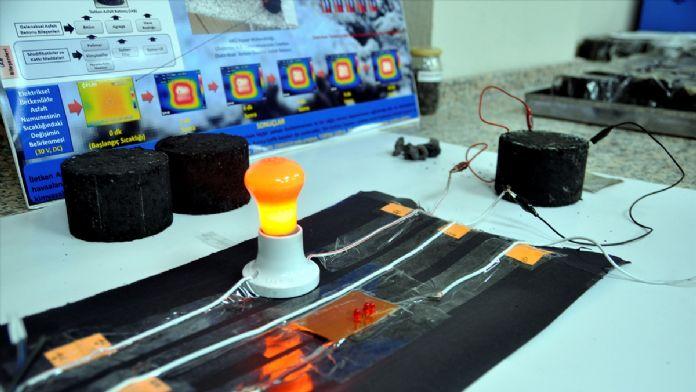 Buzlanmayı önleyen iletken asfalt üretildi
