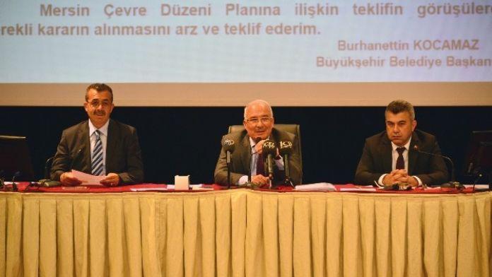Mersin'in Anayasası Çevre Düzeni Planı Meclis Gündeminde