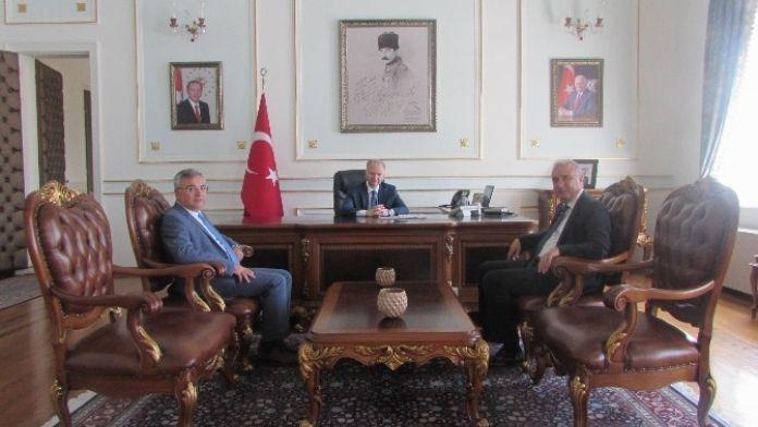 Teski Genel Müdürü Başa Ve Başkan Karakaya'dan Vali Ceylan'a Ziyaret