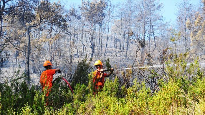GÜNCELLEME - Kemer'de orman yangını