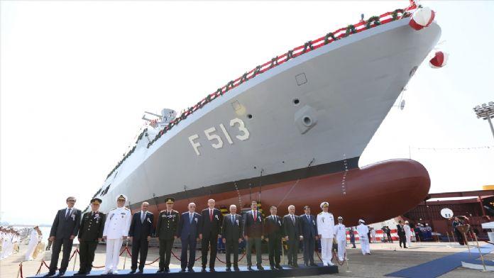 Milli savaş gemisi Burgazada denize indirildi