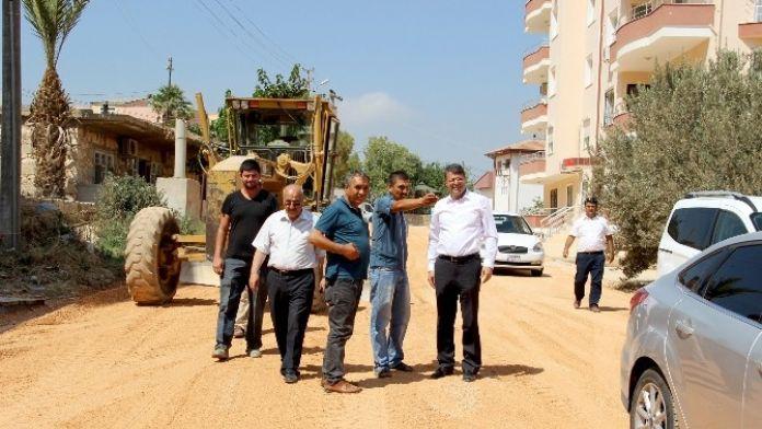 Başkan Turgut, Asfalt Çalışmalarını Yerinde İnceledi
