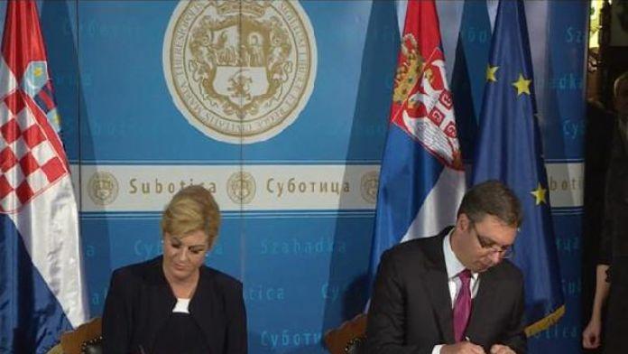 Sırbistan ile Hırvatistan arasında savaştan sonraki ilk imza