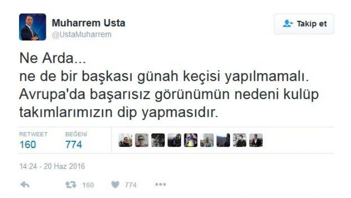 Muharrem Usta, Arda Turan Üzerinden Süper Lig'i Eleştirdi