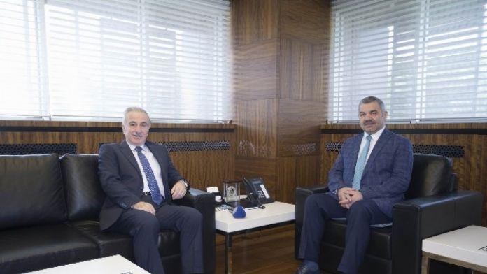 Başkan Çelik Vali Süleyman Kamçı'yı Ağırladı