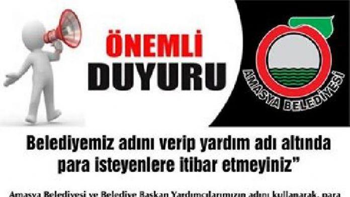 Başkan Özdemir'den dolandırıcı uyarısı