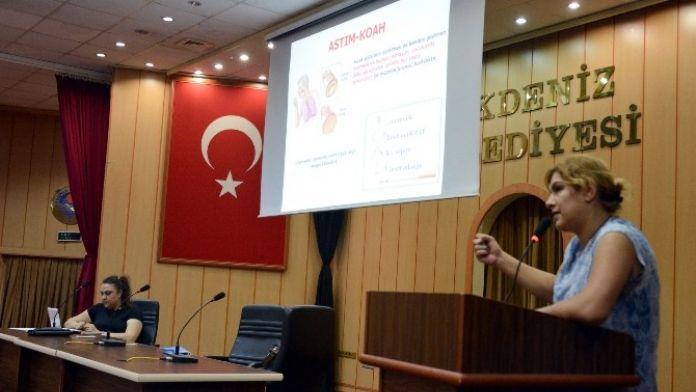Akdeniz Toplum Sağlığı Merkezi, Belediye Personelini Bilgilendirdi