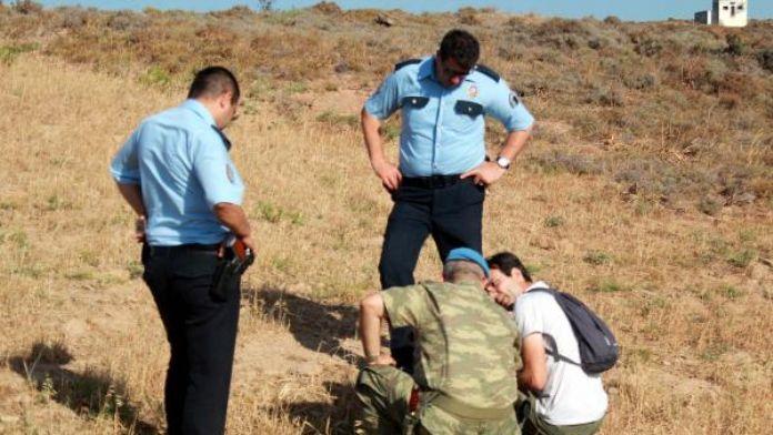 Bozcaada'da patlamamış top mermisi bulundu