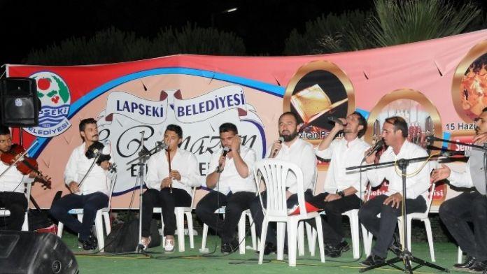 Lapseki'de Ramazan Etkinlikleri Sürüyor