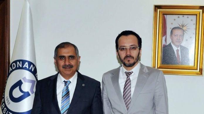 Vali Ömer Faruk Koçak, Rektör Bircan'ı Ziyaret Etti