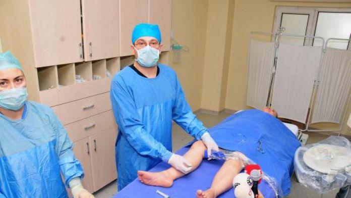 Bacak ağrılarından ameliyatsız kurtuldu