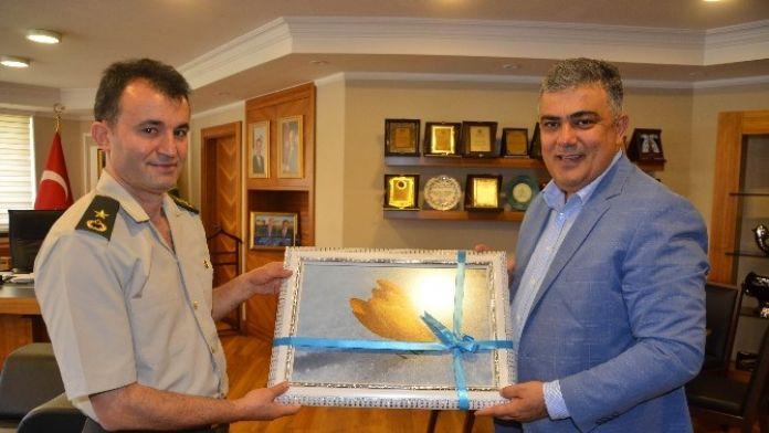 Binbaşı Tol'dan Başkan Özgüven'e Veda Ziyareti
