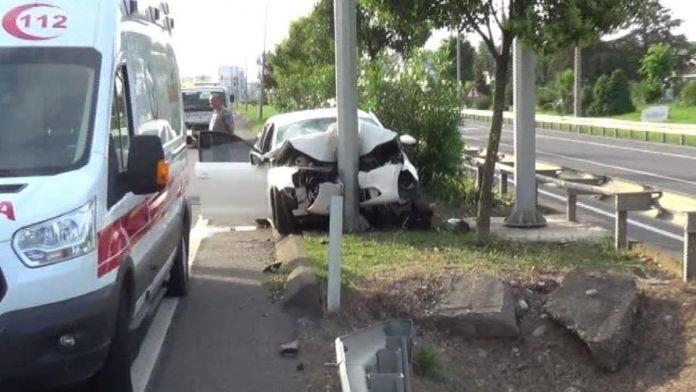 Fatsa'da trafik kazası: 1 ölü, 4 yaralı