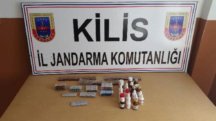 Kilis'te 580 tıbbi hap ele geçirildi
