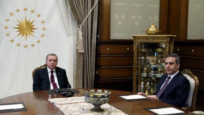 Cumhurbaşkanı Erdoğan'ın MİT Müsteşarı Fidan'ı kabul etti