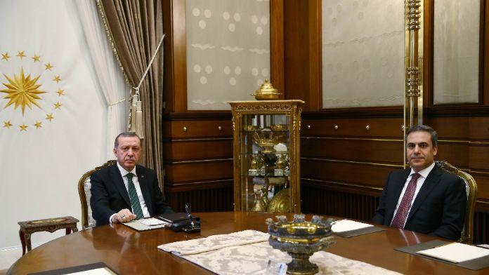 Erdoğan, MİT müsteşarını kabul etti  '